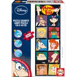 Puzzle Gigante 400 Phineas y Ferb Educa
