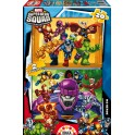 2 puzzles 20 Super Hero Squad
