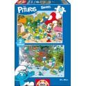 Puzzle 20 Los Pitufos Educa