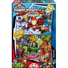 2 puzzles 48 Super Hero Squad